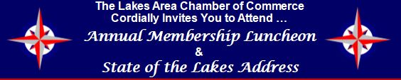 POSTPONED until further notice – State of the Lakes Luncheon