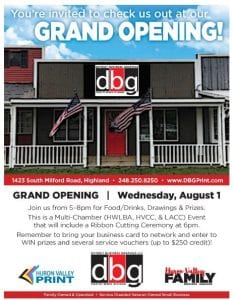 detroit business graphics grand opening ribbon cutting lakes