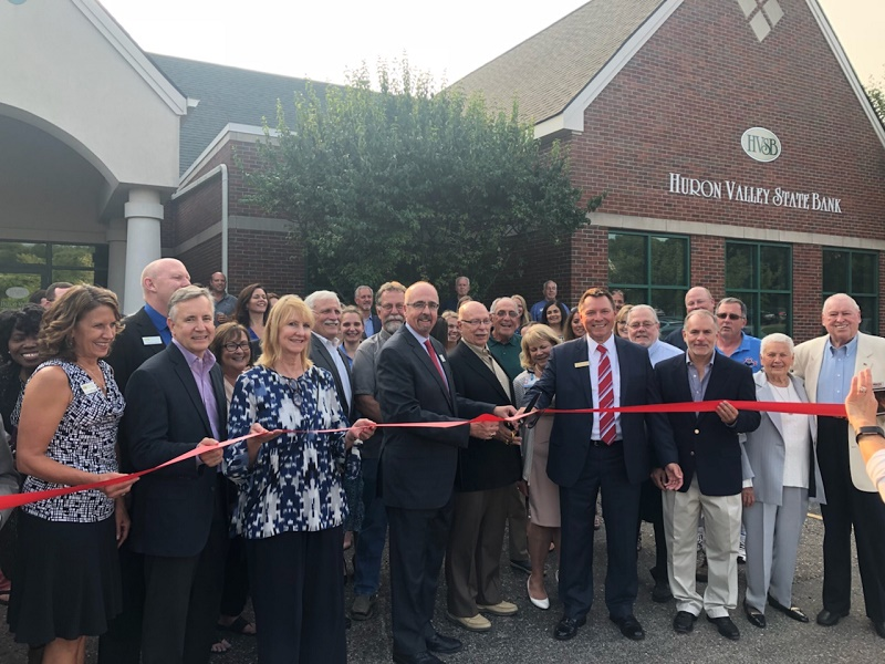 Huron Valley State Bank Financial Center Ribbon Cutting