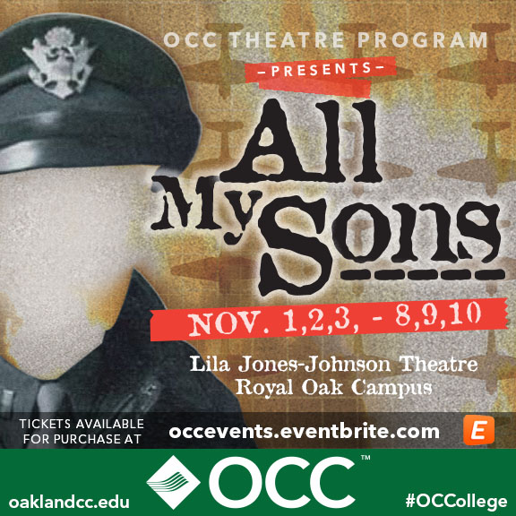 Occ Royal Oak Campus Map.Occ Theatre Program Presents All My Sons Lakes Area Chamber Of